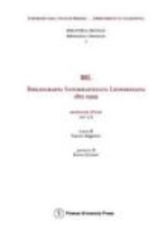 BIL: Bibliografia Informatizzata Leopardiana (1815-1999). Manuale d'uso, versione 1.0