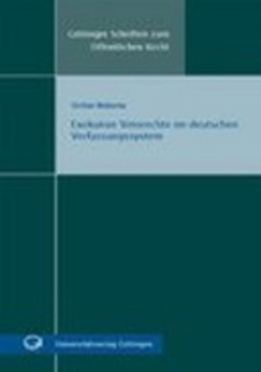 Exekutive Vetorechte im deutschen Verfassungssystem