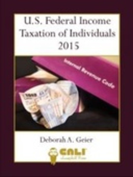 U.S. Federal Income Tax of Individuals 2015