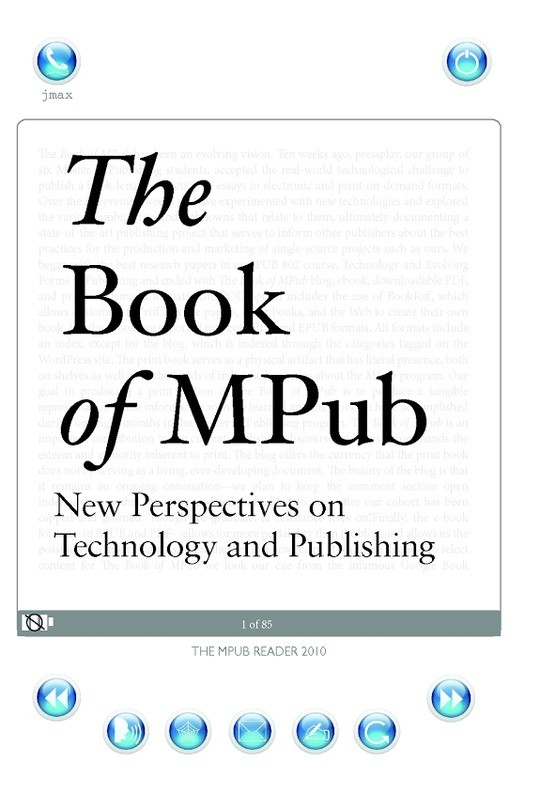 The Book of MPub: New Perspectives on Technology and Publishing