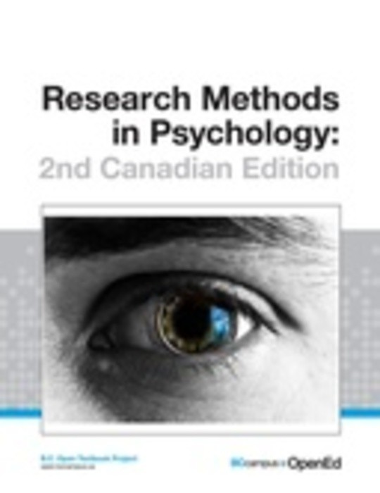 Research Methods in Psychology: 2nd Canadian Edition