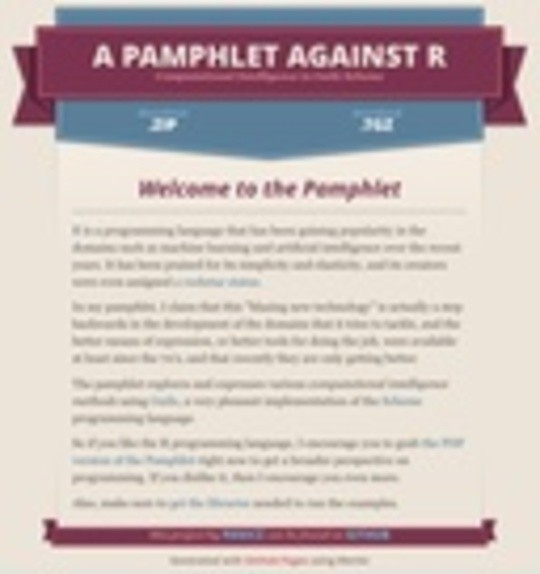 A Pamphlet Against R