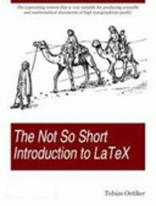The Not So Short Introduction To Latex 2 By Tobias Oetiker Bookfusion