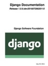 Django Documentation 1.9.x