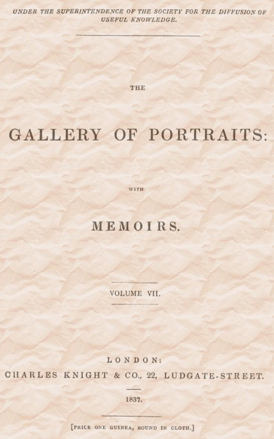 The Gallery of Portraits: with Memoirs. Vol 7 (of 7)
