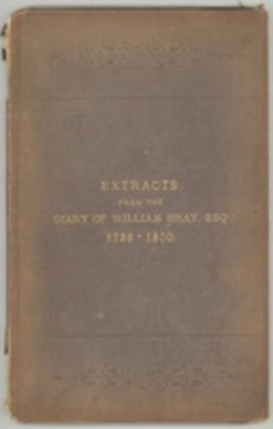 Extracts from the Diary of William Bray