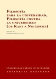 Filosofia para la universidad, filosofia contra la universidad