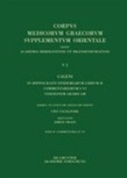 Galeni in Hippocratis Epidemiarum Librum II Commentariorum IV Versio Arabica