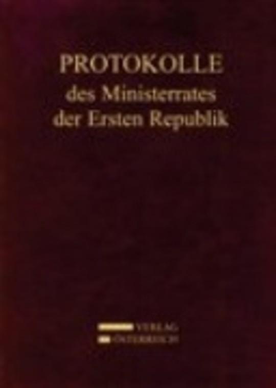 Protokolle des Ministerrates der Ersten Republik, Kabinett Dr. Kurt Schuschnigg, Band 8 (4. Juni 1937 – 21. Februar 1938)