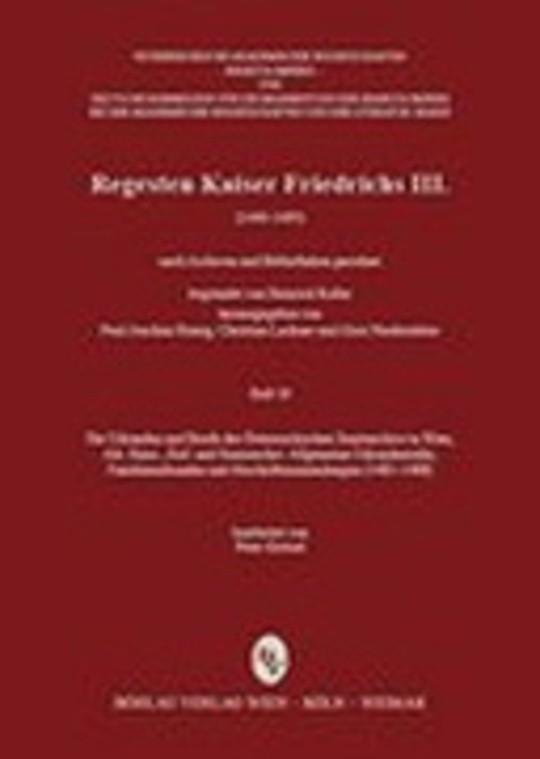 Regesten Kaiser Friedrichs III. (1440-1493)