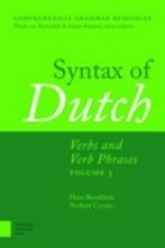 Syntax of Dutch: Verbs and Verb Phrases. Volume 3
