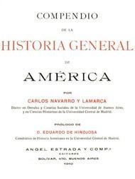 Compendio de la historia general de América Tomo I