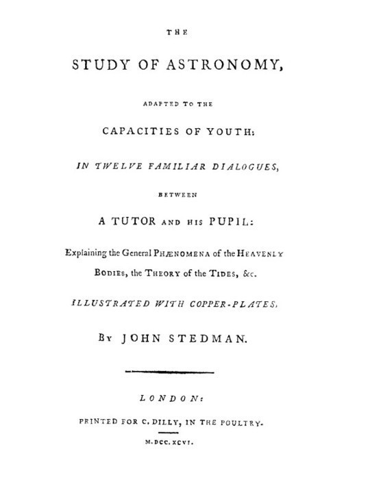 The Study of Astronomy adapted to the capacities of youth