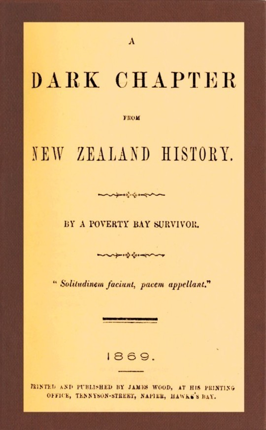A Dark Chapter from New Zealand History