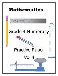 Grade 4 Numeracy Practice Paper Volume 4