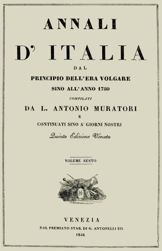 Annali d'Italia, vol. 6 dal principio dell'era volgare sino all'anno 1750