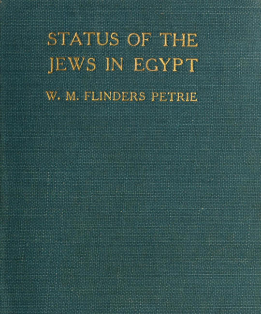 The Status of the Jews in Egypt The Fifth Arthur Davis Memorial Lecture