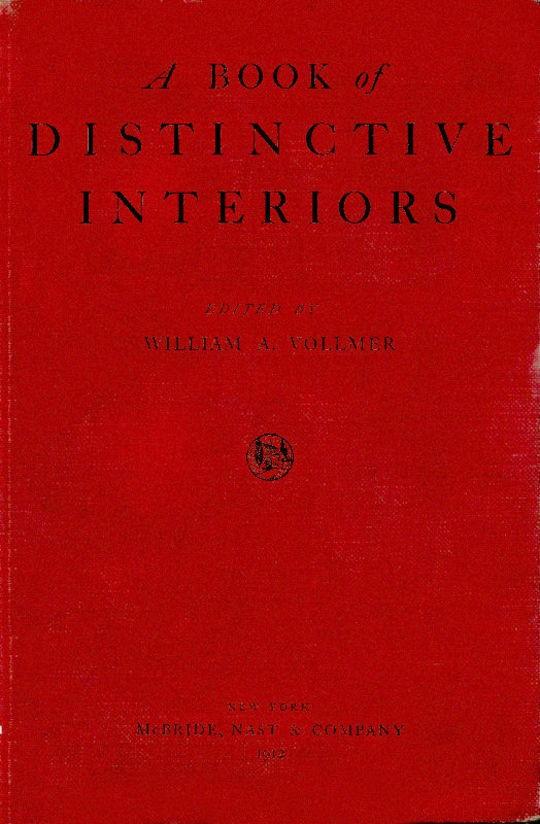 A Book of Distinctive Interiors