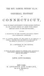 General History of Connecticut, from Its First Settlement Under George Fenwick to its Latest Period of Amity with Great Britain