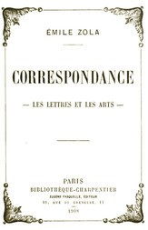 Correspondance Les lettres et les arts