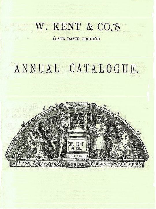 W. Kent & Co's Annual Catalogue, October 1858
