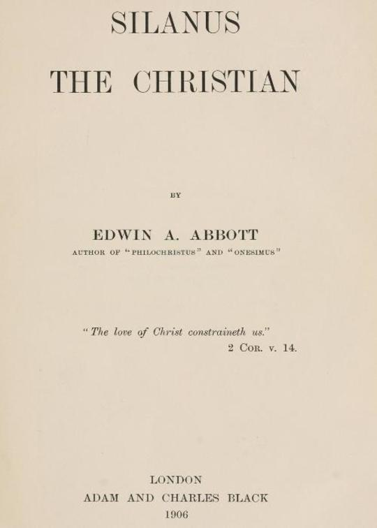 Silanus the Christian
