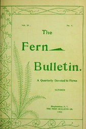 The Fern Bulletin, October 1903 A Quarterly Devoted to Ferns