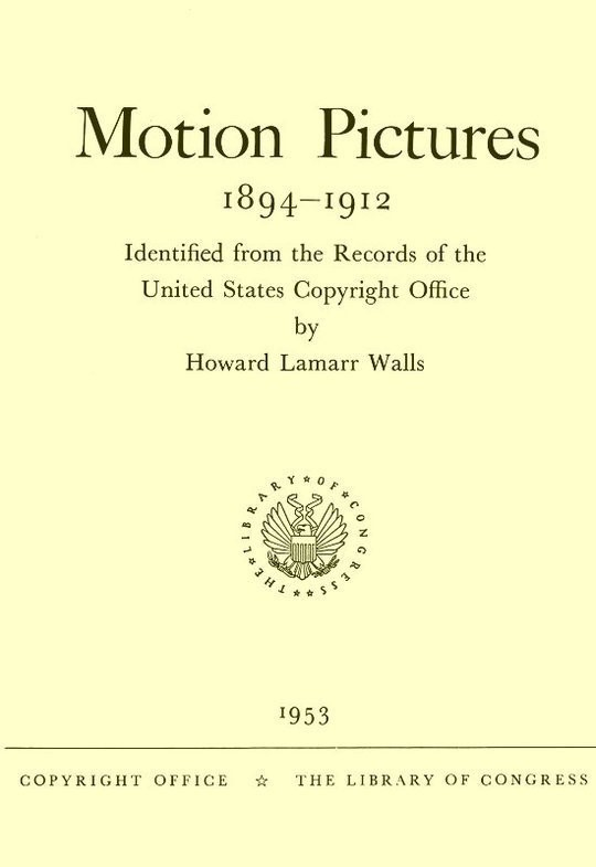 Motion Pictures, 1894-1912