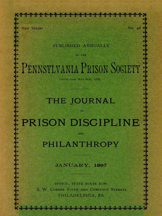 The Journal of Prison Discipline and Philanthropy (New Series, No. 46)