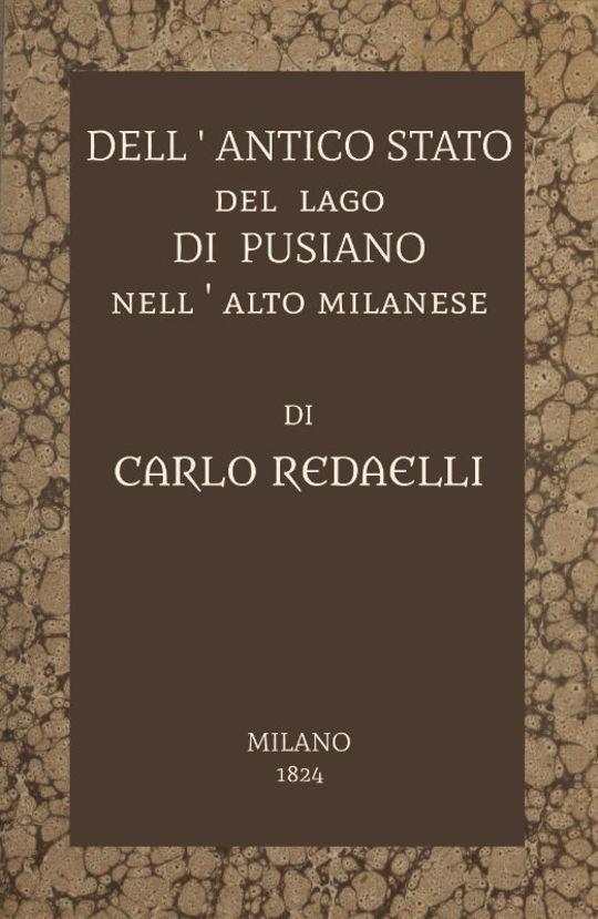 Dell'antico stato del lago di Pusiano nell'alto Milanese