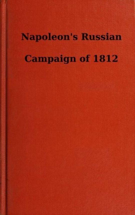 Napoleon's Russian Campaign of 1812