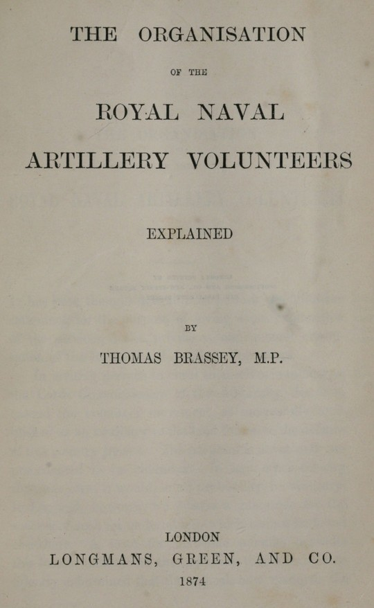 The Organisation of the Royal Naval Artillery Volunteers Explained