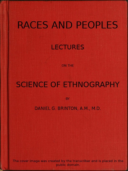 Races and Peoples Lectures on the Science of Ethnography