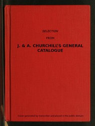 Selection from J. & A. Churchill's General Catalogue (1890)