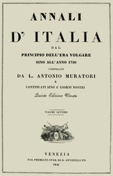 Annali d'Italia, vol. 7 dal principio dell'era volgare sino all'anno 1750