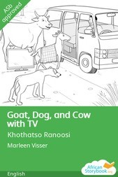 Goat, Dog, and Cow with TV