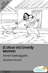 (Colour-in) Greedy woman