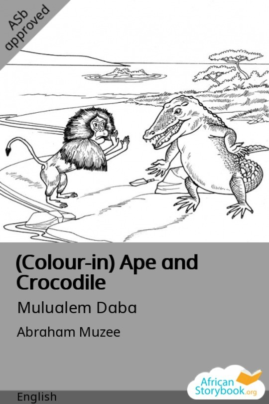 (Colour-in) Ape and Crocodile