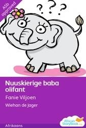 Nuuskierige baba olifant