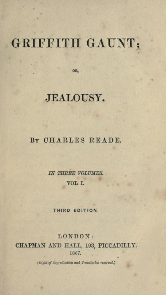 Griffith Gaunt; or, Jealousy Volumes 1 to 3 (of 3)