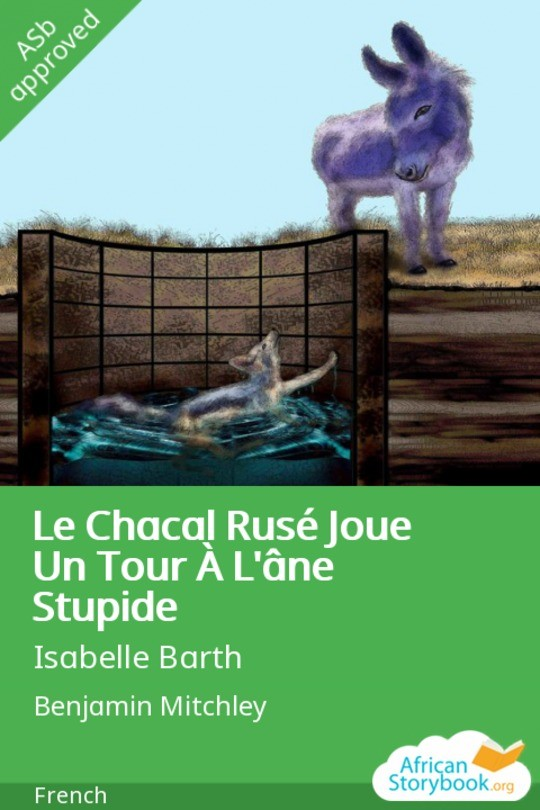 Le Chacal Rusé Joue Un Tour À L'âne Stupide