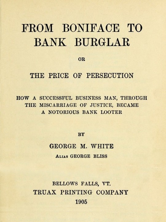 From Boniface to Bank Burglar The Price of Persecution
