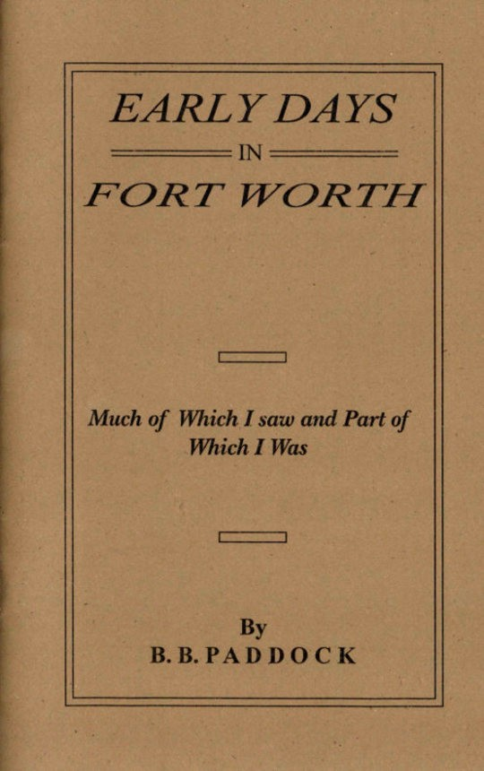 Early Days in Fort Worth