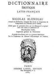Dictionnaire érotique Latin-Français