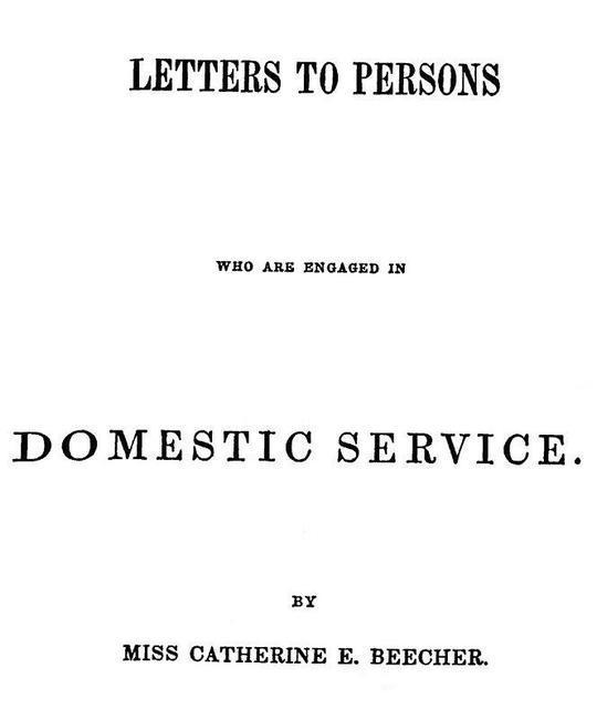 Letters to Persons Who Are Engaged in Domestic Service
