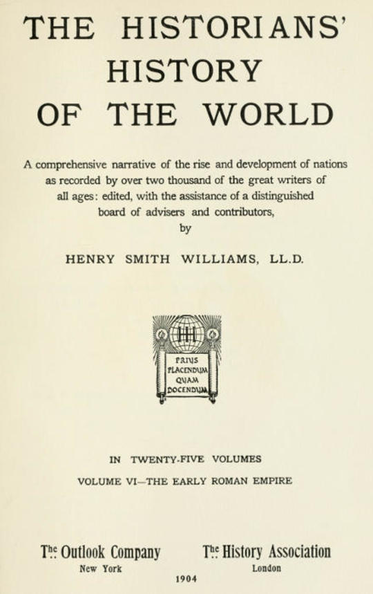 The Historians' History of the World in Twenty-Five Volumes, Volume 6 The Early Roman Empire