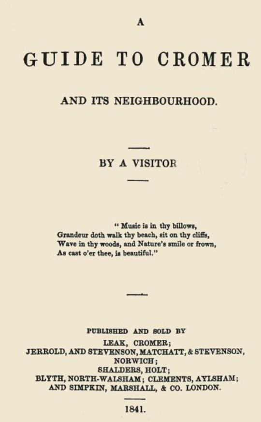 A Guide to Cromer and its Neighbourhood