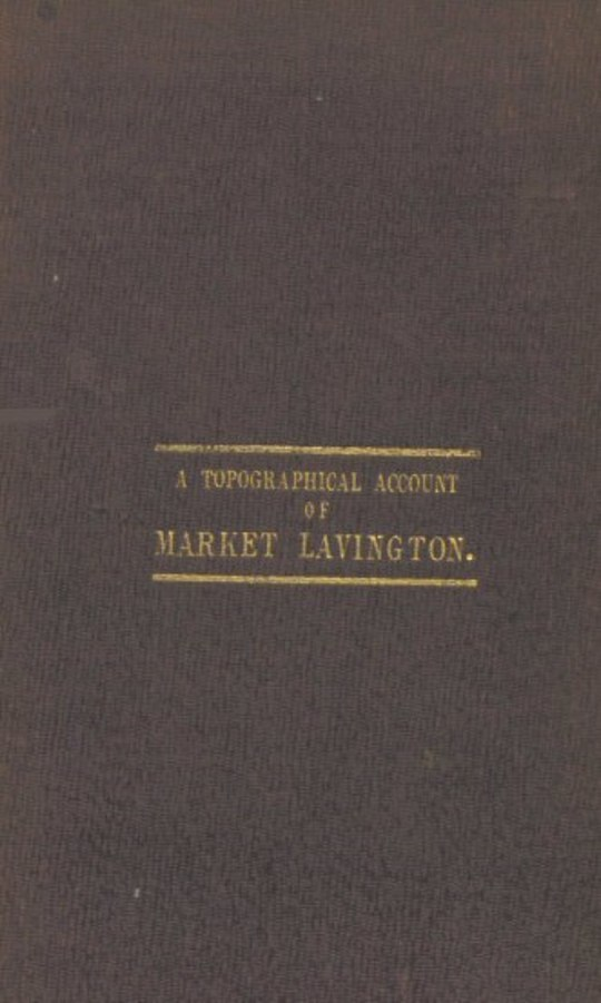 A Topographical Account of Market Lavington