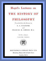 The History of Philosophy: Volume Three (of 3)