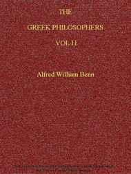 The Greek Philosophers, Vol. II (of 2)